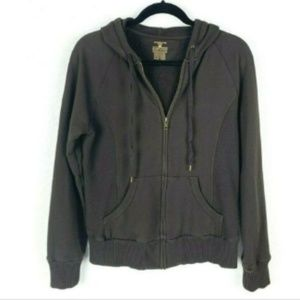 Jones New York Chocolate Brown Hoodie Jacket
